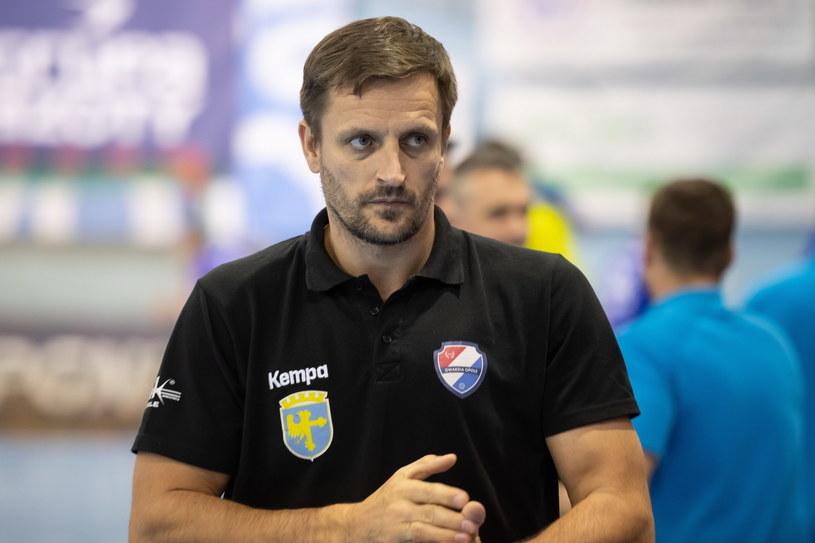 Trener Gwardii Opole Rafał Kuptel /Wojciech Pacewicz /PAP