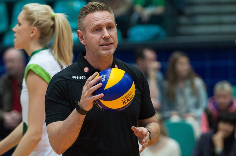 Trener Impelu Wrocław Tore Aleksandersen /Fot. Maciej Kulczyński /PAP