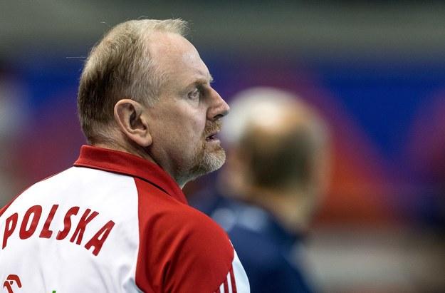 Trener Jacek Nawrocki / Maciej Kulczyński    /PAP