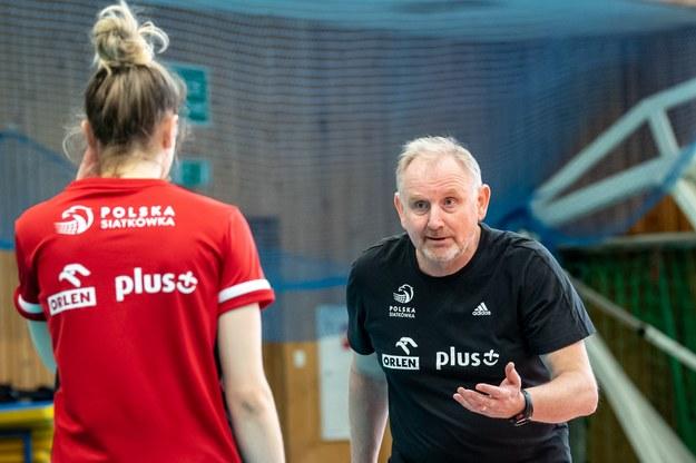 Trener Jacek Nawrocki /Paweł Skarba /