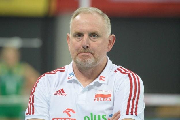 Trener Jacek Nawrocki /Grzegorz Michałowski /PAP