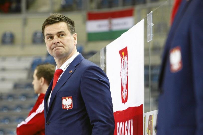 Trener Jacek Płachta mógł być dumny ze swoich hokeistów /Jakub Ociepa /