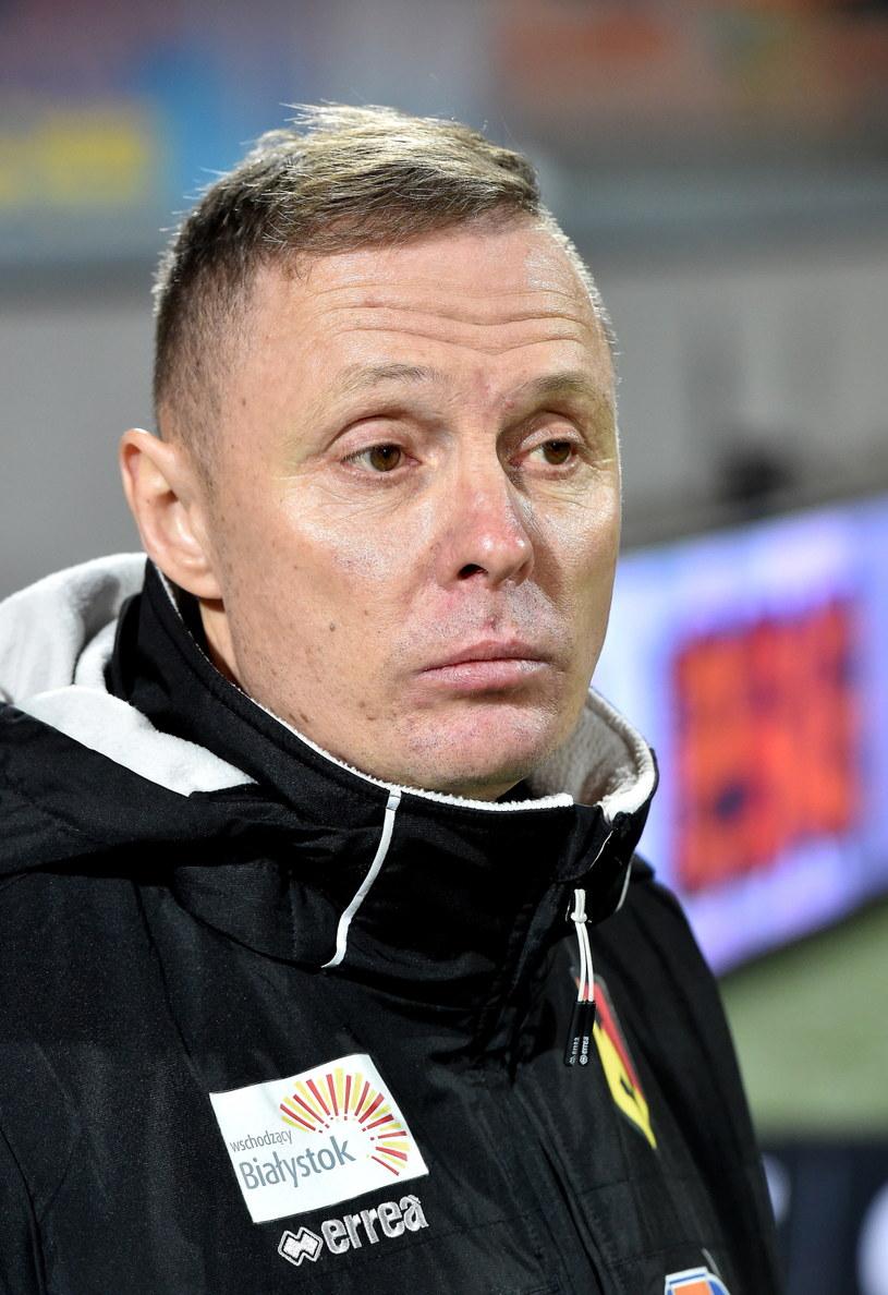 Trener Jagiellonii Białystok Ireneusz Mamrot /fot. Jacek Bednarczyk /PAP