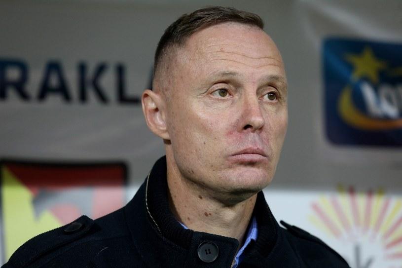 Trener Jagiellonii Białystok Ireneusz Mamrot /Artur Reszko /PAP