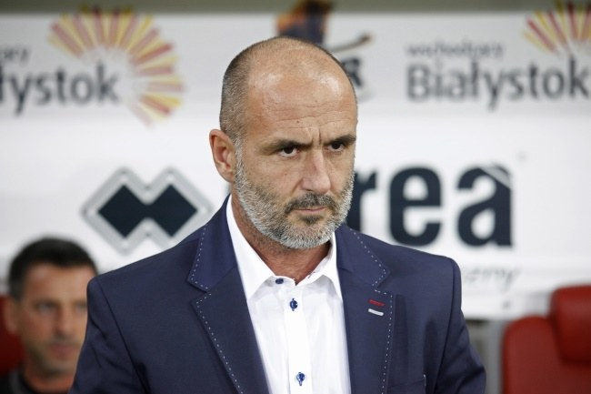 Trener Jagiellonii Białystok Michał Probierz; fot: Artur Reszko /PAP