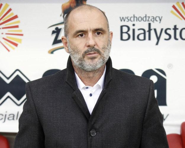 Trener Jagiellonii Białystok Michał Probierz /Artur Reszko /PAP
