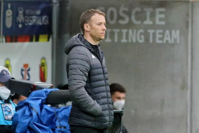 Trener Jagiellonii Białystok Rafał Grzyb / Artur Reszko    /PAP