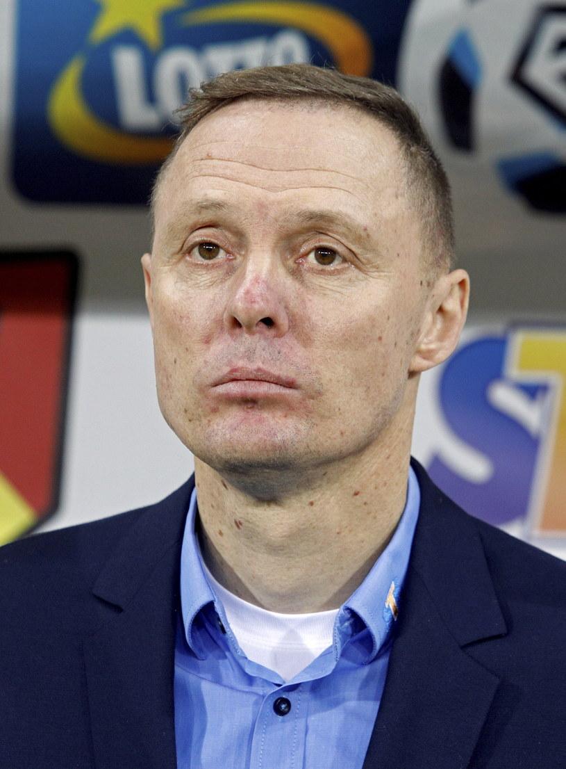 Trener Jagiellonii Ireneusz Mamrot /Fot. Artur Reszko /PAP