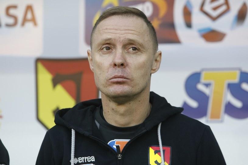 Trener Jagiellonii Ireneusz Mamrot /Artur Reszko /PAP
