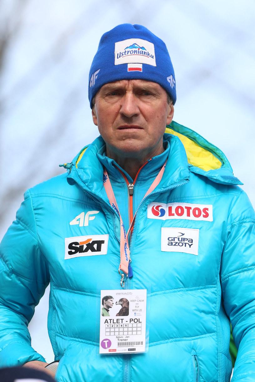 Trener Jan Szturc /Tomasz Markowski /Newspix