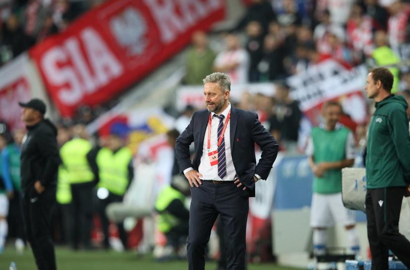 Trener Jerzy Brzęczek podczas meczu ze Słowenią w Lublanie / Leszek Szymański    /PAP