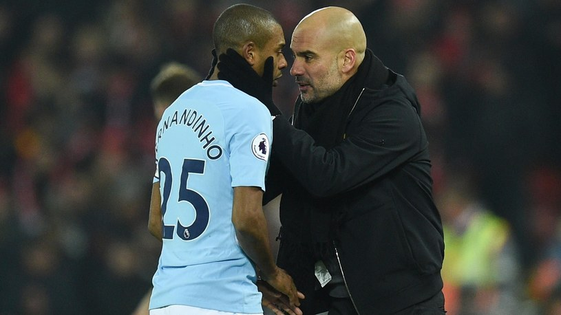Trener Josep Guardiola i Fernandinho /Getty Images