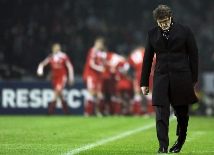 Trener Juventusu Ciro Ferrara po klęsce z Bayernem. /AFP