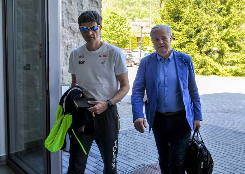 Trener kadry Stefan Horngacher i prezes PZN Apoloniusz Tajner /Fot. Michał Klag/REPORTER /East News