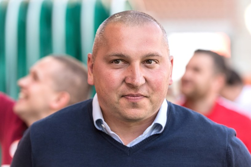 Trener KGHM Zagłębia Lubin Mariusz Lewandowski / Maciej Kulczyński    /PAP