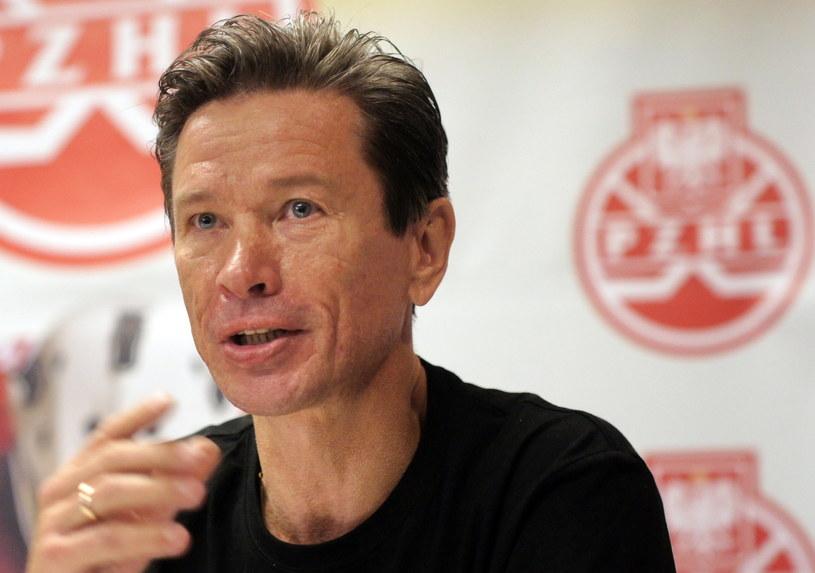 Trener-konsultant reprezentacji Polski Wiaczesław Bykow /Fot. Andrzej Grygiel /PAP