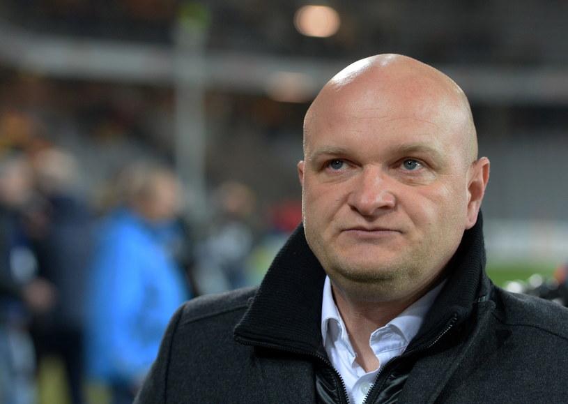 Trener Korony Kielce Maciej Bartoszek /Fot. Piotr Polak /PAP