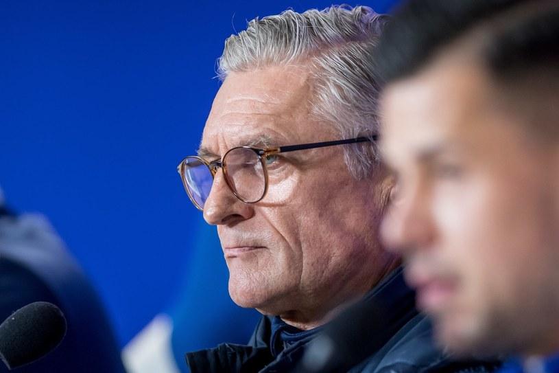 Trener Lecha Adam Nawałka /Paweł Jaskółka /PAP