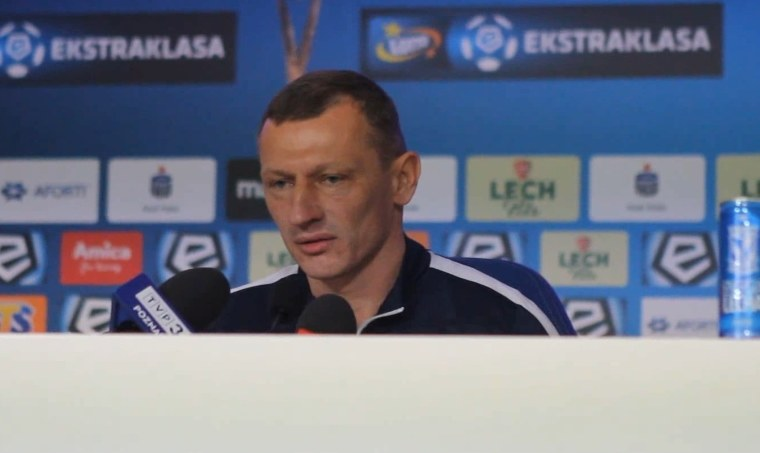 Trener Lecha Dariusz Żuraw /Andrzej Grupa /INTERIA.PL