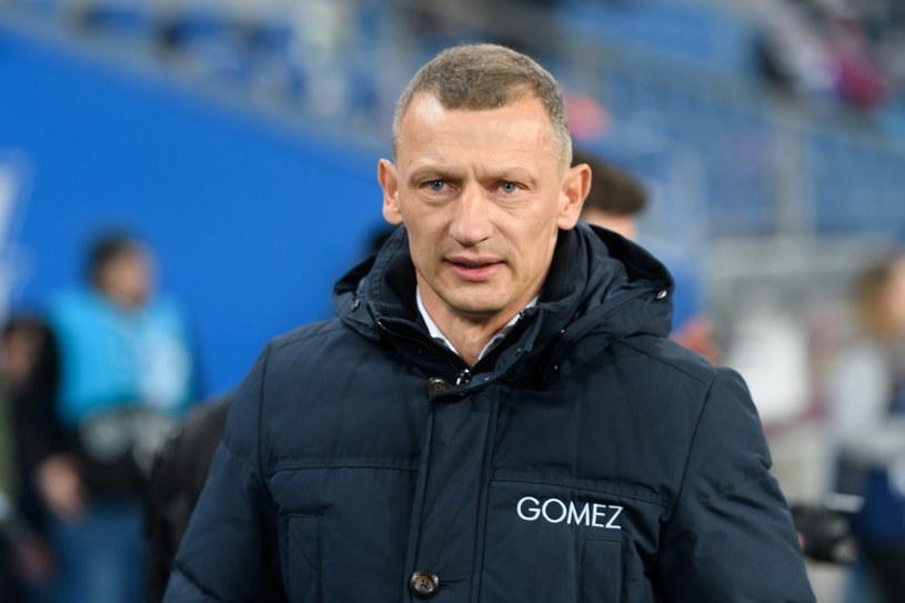 Trener Lecha Dariusz Żuraw /Jakub Kaczmarczyk /PAP