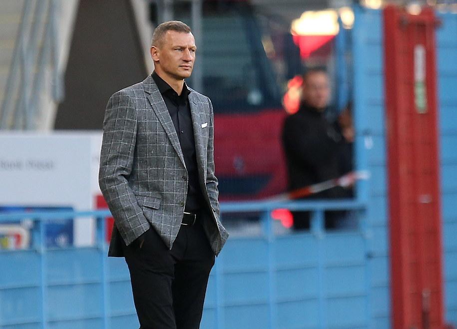 Trener Lecha Dariusz Żuraw /Andrzej  Grygiel /PAP