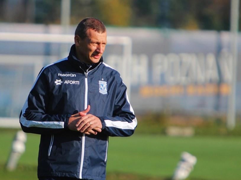 Trener Lecha Poznań Dariusz Żuraw /GRZEGORZ DEMBINSKI/POLSKA PRESS /East News