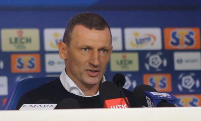 Trener Lecha Poznań Dariusz Żuraw /Andrzej Grupa /INTERIA.TV