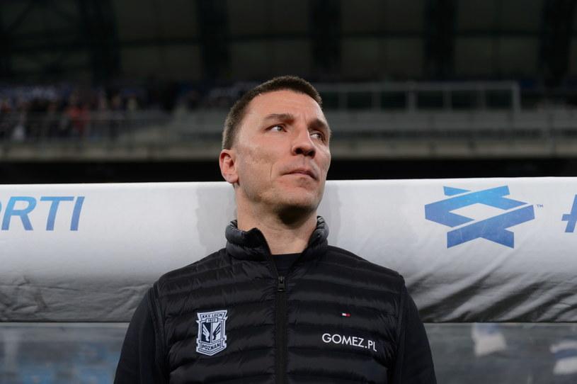 Trener Lecha Poznań Ivan Djurdjević podczas meczu z Koroną. /Jakub Kaczmarczyk /PAP