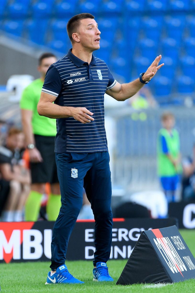 Trener Lecha Poznań Ivan Djurdjević /Jakub Kaczmarzyk /PAP