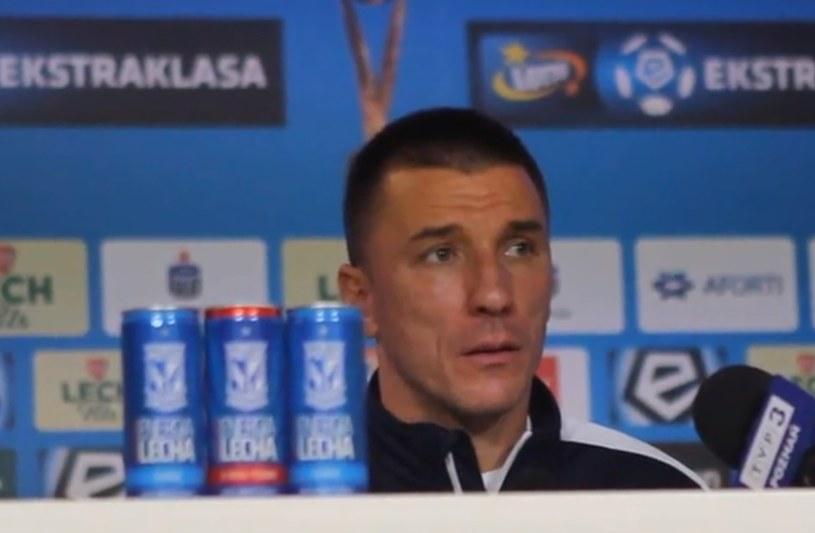 Trener Lecha Poznań Ivan Djurdjević /INTERIA.PL