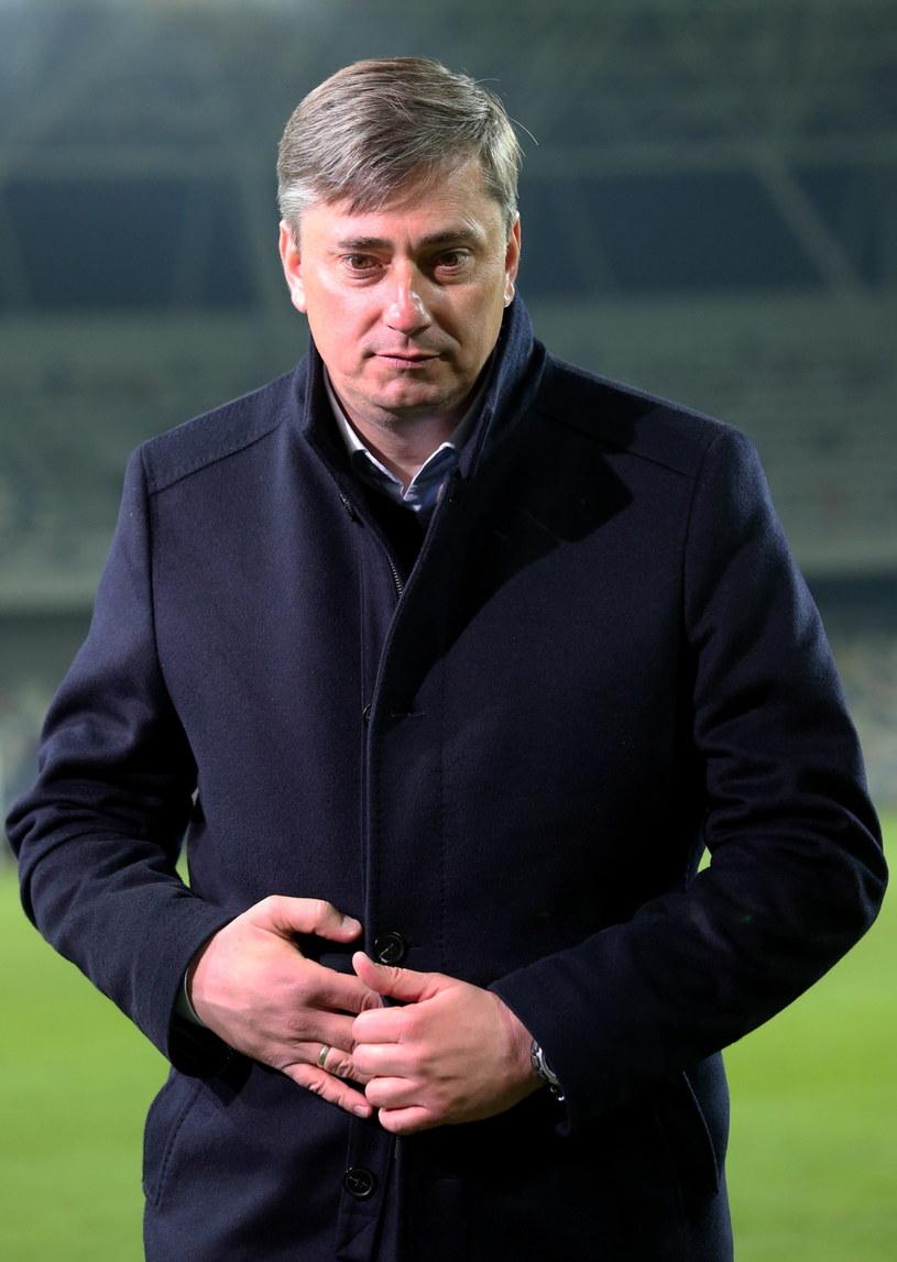 Trener Lecha Poznań Maciej Skorża /fot. Grzegorz Momot /PAP