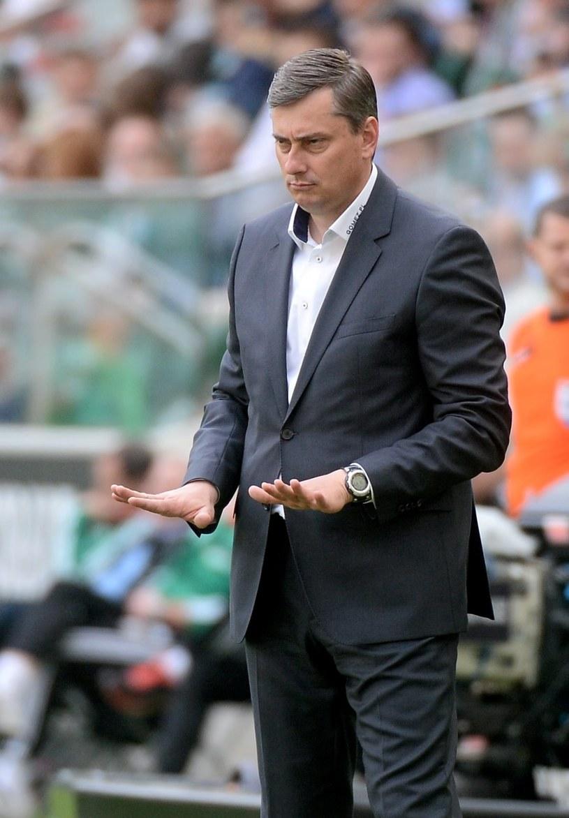 Trener Lecha Poznań Maciej Skorża /Bartłomiej Zborowski /PAP