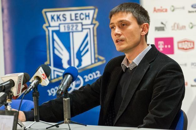 Trener Lecha Poznań Mariusz Rumak /Adam Ciereszko /PAP