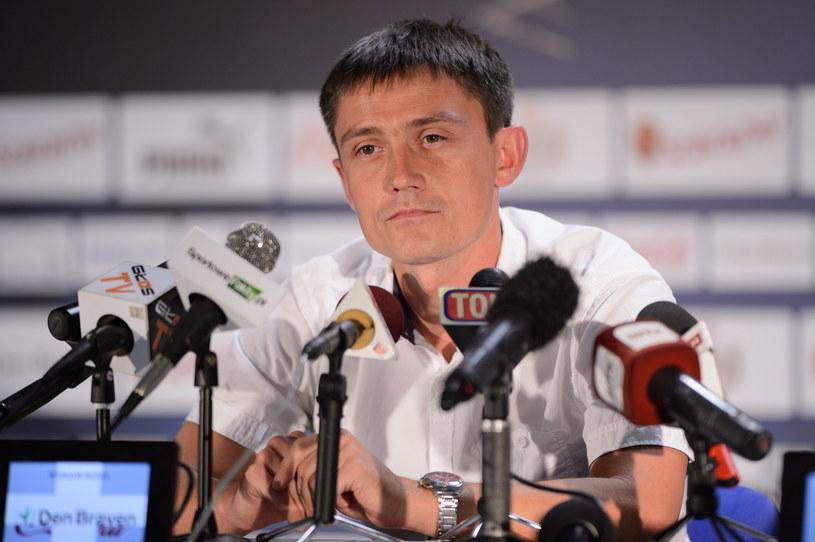 Trener Lecha Poznań Mariusz Rumak /Fot. Jakub Kaczmarczyk /PAP