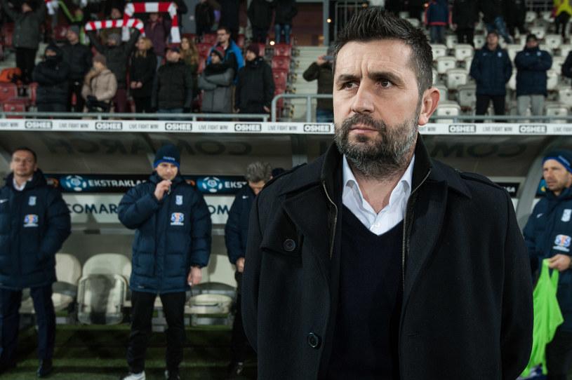 Trener Lecha Poznań Nenad Bjelica. /Jakub Gruca  /Newspix