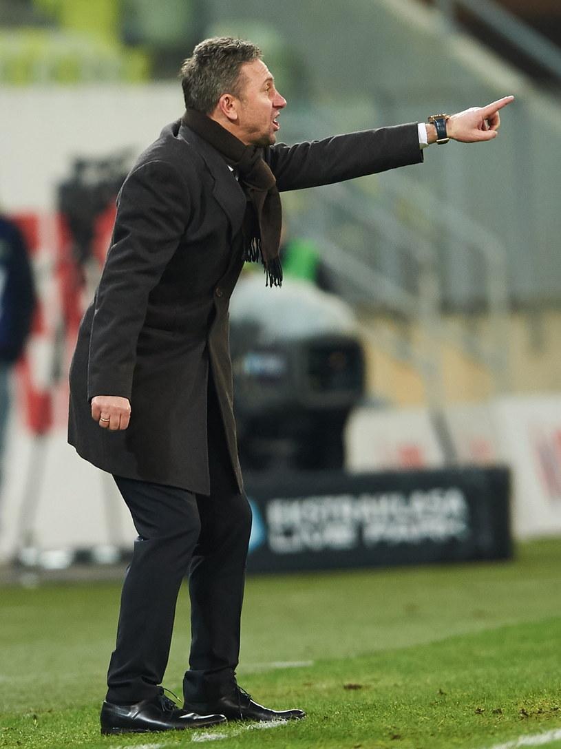 Trener Lechii Gdańsk Jerzy Brzęczek /Fot. Adam Warżawa /PAP
