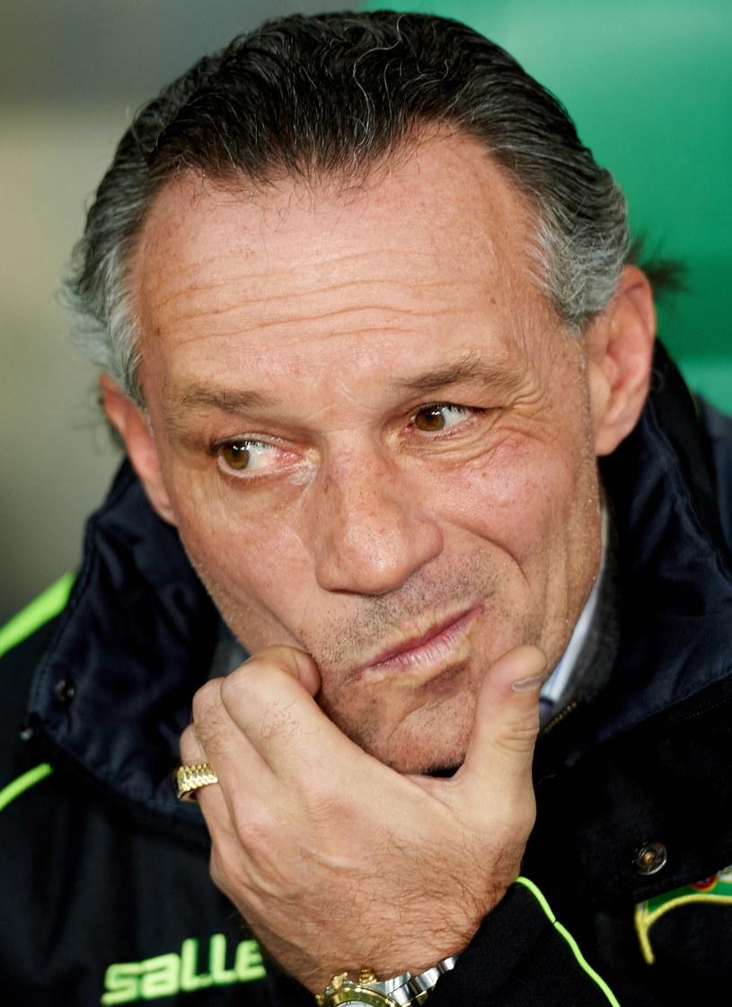Trener Lechii Gdańsk Piotr Nowak /Fot. Adam Warżawa /PAP