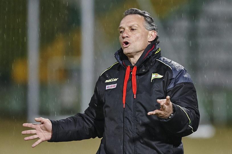 Trener Lechii Gdańsk Piotr Nowak /Fot. Jan Rusek /