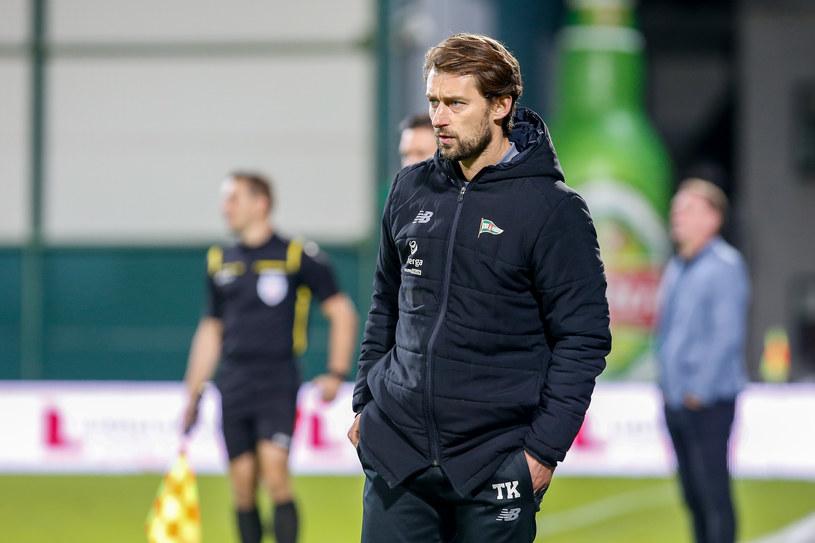 Trener Lechii Gdańsk, Tomasz Kaczmarek w trakcie meczu z Górnikiem Łęczna /GRZEGORZ RADTKE / 058sport.pl / NEWSPIX.PL /Newspix