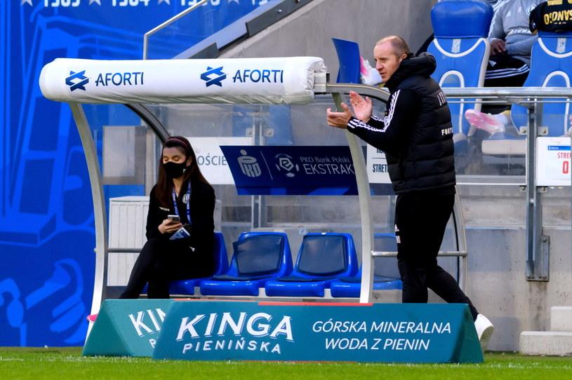 Trener Legii Aleksandar Vuković podczas meczu z Lechem /Jakub Kaczmarczyk /PAP