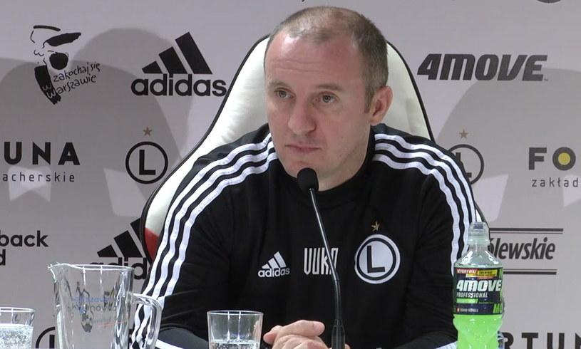 Trener Legii Aleksandar Vuković /INTERIA.PL