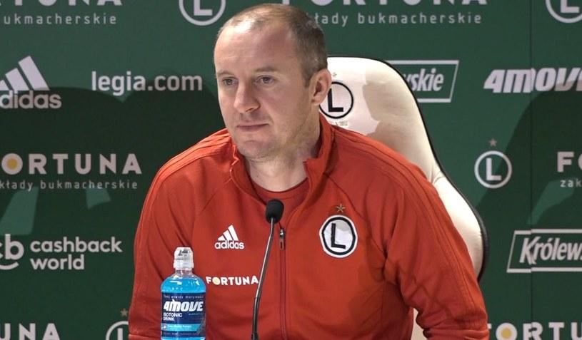 Trener Legii Warszawa Aleksandar Vuković /INTERIA.PL