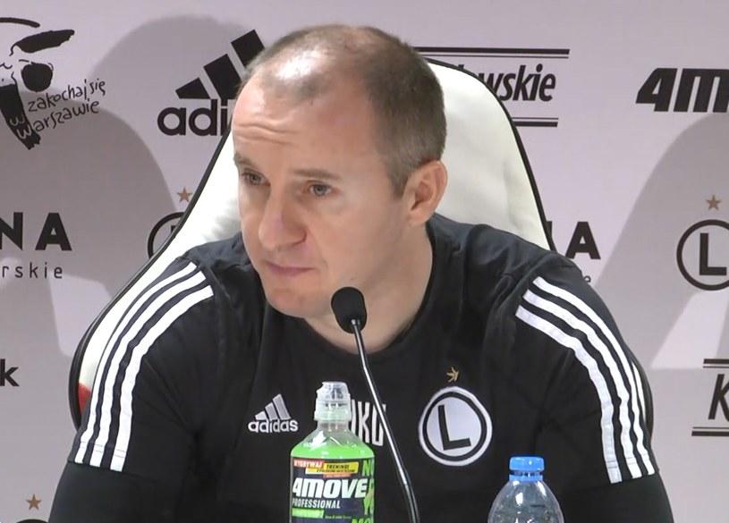 Trener Legii Warszawa - Aleksandar Vuković /INTERIA.PL