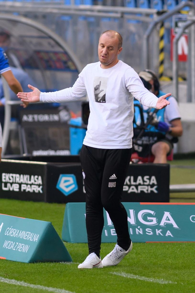 Trener Legii Warszawa Aleksandar Vuković /Jakub Kaczmarczyk /PAP