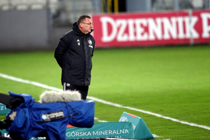 Trener Legii Warszawa Czesław Michniewicz /Łukasz Gągulski /PAP