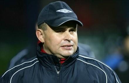 Trener ŁKS-u - Grzegorz Wesołowski. Fot. Tomasz Wantuła. /Agencja Przegląd Sportowy