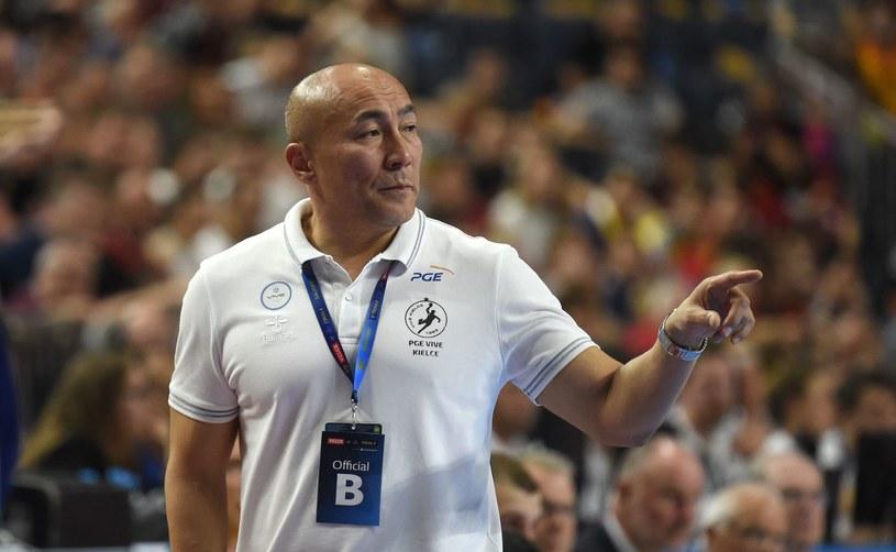 Trener Łomża Vive Kielce Tałant Dujszebajew /AFP