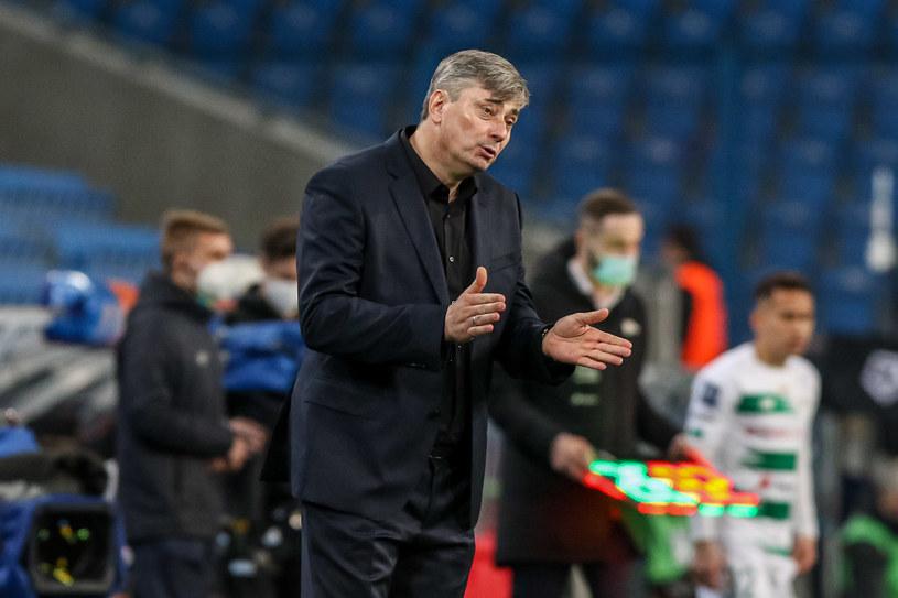 Trener Maciej Skorża podczas meczu Lech Poznań - Lechia Gdańsk /Pawel Jaskolka / PressFocus / NEWSPIX.PL /Newspix