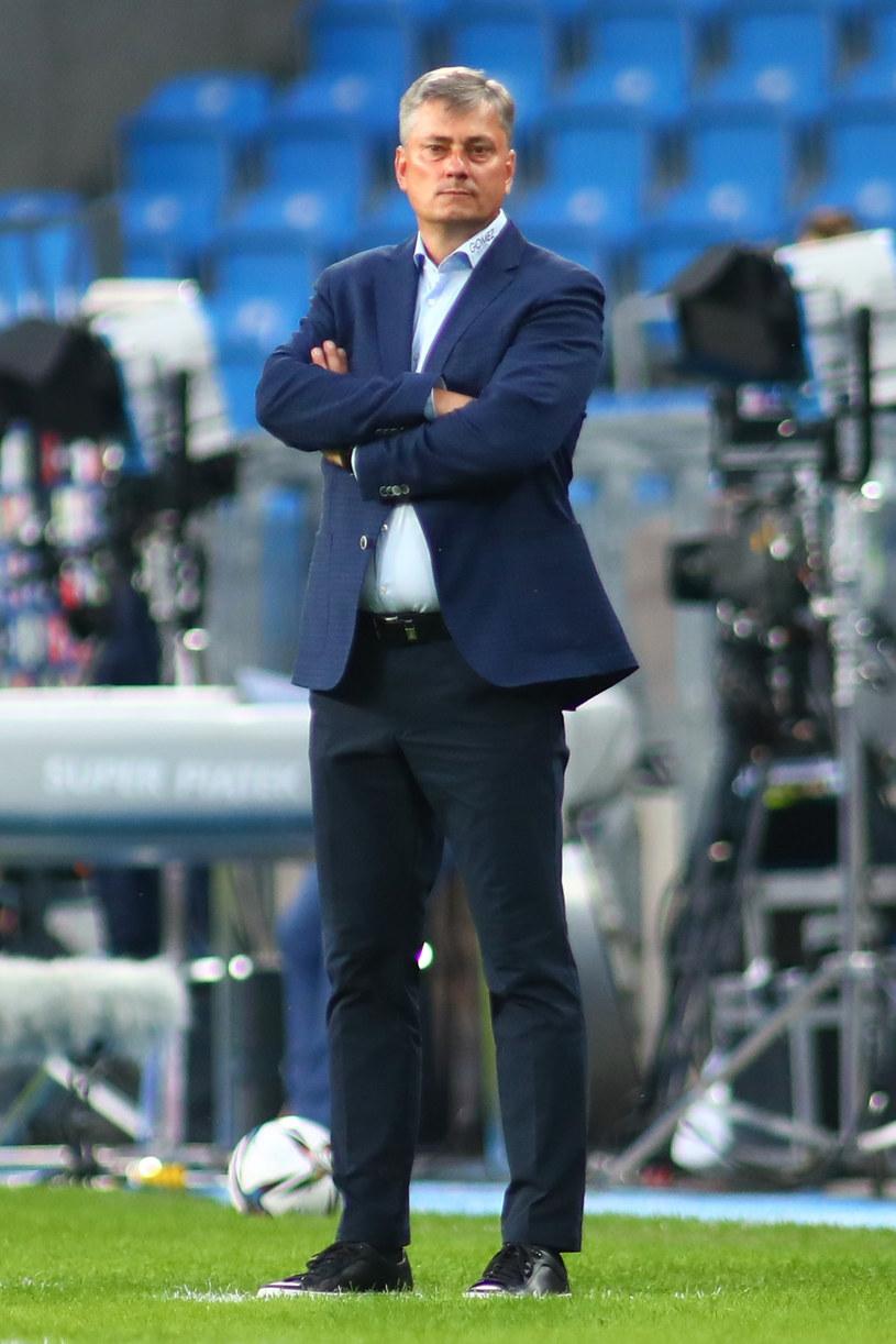 Trener Maciej Skorża podczas meczu Lech Poznań - Radomiak Radom /Maciej Figielek /Newspix