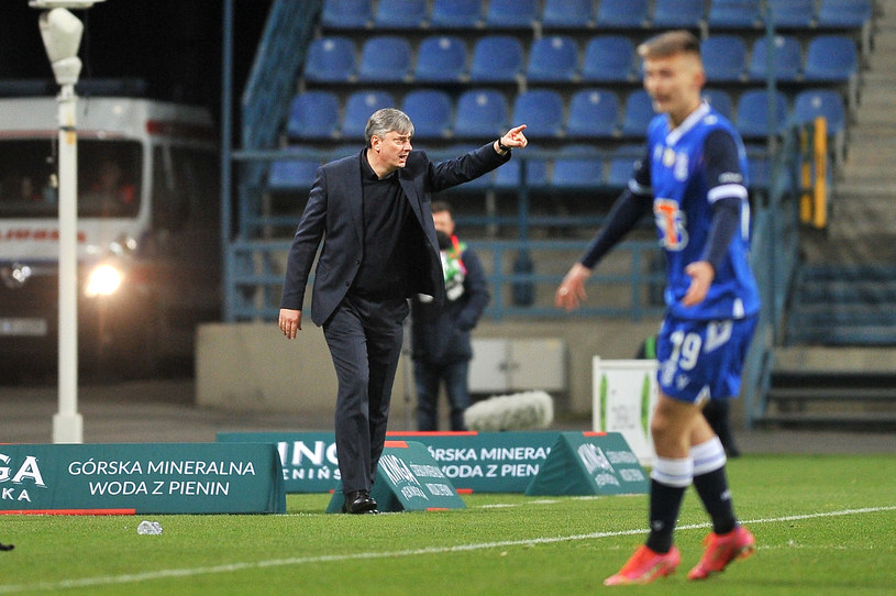 Trener Maciej Skorża podczas meczu Wisła Kraków - Lech Poznań /Krzysztof Porebski / Newspix.pl   /Newspix